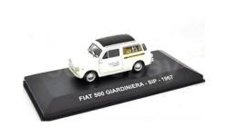 FIAT 500 GIARDINIERA 'SIP' 1967 White/Black, масштабная модель, Altaya, scale43