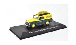 FIAT 500C FURGONCINO 'RIELLO' 1959 Yellow/Green, масштабная модель, Altaya, 1:43, 1/43