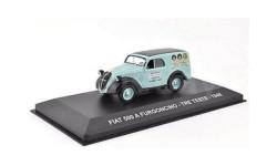 FIAT 500 A FURGONCINO 'TRE TESTE' 1948 Light Blue/Black, масштабная модель, Altaya, scale43