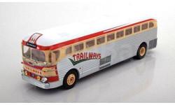 автобус GMC PD-3751 'Trailways' 1949 Silver/Beige/Red, масштабная модель, IXO, scale43