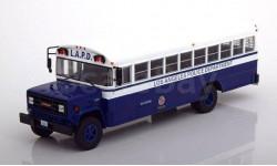 автобус GMC 6000 'Los Angeles Police Department' (Полиция Лос-Анжелеса) 1988 Blue/White, масштабная модель, IXO, 1:43, 1/43