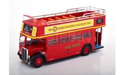 автобус AEC Regent RT 'London Transport Sightseeing Tour' Open-Top 1950 Red, масштабная модель, IXO, scale43
