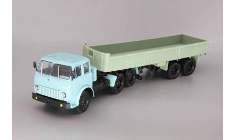 МАЗ-515 (6x4) + МАЗ-5205, голубой / зеленый, масштабная модель, Наш Автопром, scale43