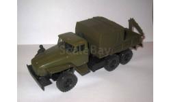 Уральский грузовик 4320-0011-31 c КМУ Инман-50, масштабная модель, студия СПБМ, 1:43, 1/43