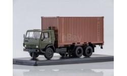 КАМАЗ-53212 с 20-футовым контейнером (хаки/коричневый), масштабная модель, Start Scale Models (SSM), scale43