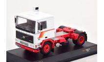 седельный тягач VOLVO F10 1983 White/Red, масштабная модель, IXO, scale43