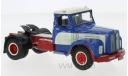 седельный тягач SCANIA 110 Super 1953 Blue/White, масштабная модель, IXO, scale43