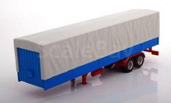 полуприцеп с тентом Grey/Blue/Red, масштабная модель, IXO, scale43