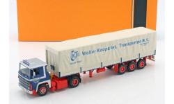 SCANIA LBT 141 с полуприцепом 'Wolter Koops' 1976 Blue/Red, масштабная модель, IXO, scale43
