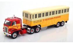 INTERNATIONAL Harvester DCOF-405 с полуприцепом 'Yamaha Pianos' 1959 Red/Yellow