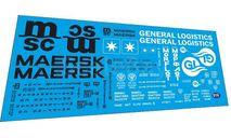 Набор декалей Контейнер MAERSK и General Logistic, фототравление, декали, краски, материалы, Doctor Decal, scale43