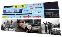 набор декалей ЗАЗ 968 ралли СССР 1981, фототравление, декали, краски, материалы, Doctor Decal, scale43
