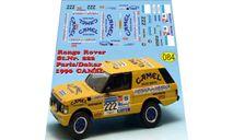 набор декалей Range Rover Camel rally dakar 1990, фототравление, декали, краски, материалы, Doctor Decal, scale43