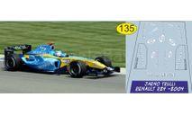 набор декалей Formula 1 №17 Renault R24 Ярно Трулли, фототравление, декали, краски, материалы, Doctor Decal, scale43