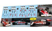 набор декалей Formula 1 №21 McLaren M23 расширенный на 4 авто, фототравление, декали, краски, материалы, Doctor Decal, scale43