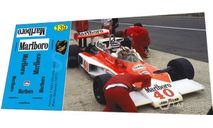 набор декалей Formula 1 №21 McLaren M23 №40 Жиль Вильнев 1977, фототравление, декали, краски, материалы, Doctor Decal, scale43