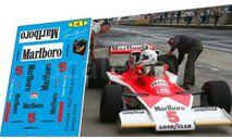 набор декалей Formula 1 №21 McLaren M23 №5 James Hunt, фототравление, декали, краски, материалы, Doctor Decal, scale43