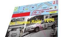 набор декалей ВАЗ 2108 OLD TOOMAS Rally 1988, фототравление, декали, краски, материалы, Doctor Decal, scale43