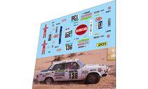 набор декалей LADA 2105 №136 Dakar 1983, фототравление, декали, краски, материалы, ВАЗ, Doctor Decal, 1:43, 1/43