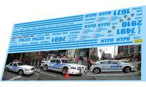 набор декалей Полиция США NYPD, фототравление, декали, краски, материалы, Doctor Decal, 1:43, 1/43