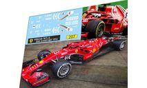 набор декалей Formula 1 №37 Ferrari SF71-H Kimi Raikonen, фототравление, декали, краски, материалы, Doctor Decal, scale43