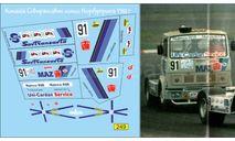 набор декалей МАЗ-5432С №91 команда Совтрансавто кольцо Нюрбургринга 1988 г, фототравление, декали, краски, материалы, Doctor Decal, scale43