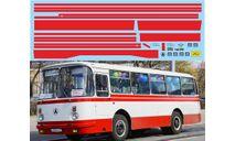 набор декалей Полосы ЛАЗ 695Н (красный), фототравление, декали, краски, материалы, Doctor Decal, scale43