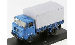 ИФА В50 Л Бортовой грузовик синий с серым тентом (г.Ленинград) 1983, масштабная модель, IFA, VVM, 1:43, 1/43