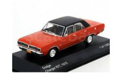 DODGE Charger R/T 1975 Red/Black, масштабная модель, WhiteBox, scale43