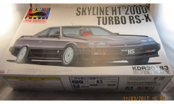 NISSAN SKYLINE HT 2000 TURBO RS-X (R30) 1983  1/24 AOSHIMA PRE-PAINTED, сборная модель автомобиля, 1:24