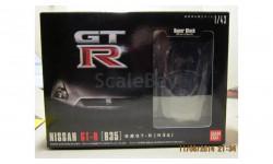Nissan GT-R R35 SUPER BLACK 1/43 пластиковый кит Bandai, сборная модель автомобиля, 1:43
