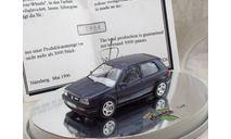Volkswagen Golf VR6 1/43 Schabak Silver Wheels сертификат #984, масштабная модель, 1:43