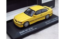 РАСПРОДАЖА С 1 РУБЛЯ!!! BMW M3 (E36) COUPE DAKAR YELLOW 1/43 Minichamps OMOSHIRO BUHIN SOHKO, масштабная модель, scale43