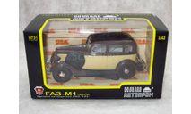 ГАЗ-М1 Такси коричнево-бежевый 1/43 НАП, масштабная модель, НАП-АРТ, 1:43