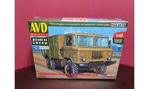 Автомобиль-фургон хлебный АФХ (на шасси ГАЗ-66), сборная модель автомобиля, AVD Models, scale43, ЗиС