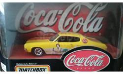 1:43 chevrolet chevelle 1970 Coca Cola matchbox, масштабная модель, 1/43