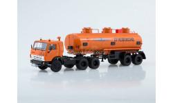КАМАЗ-54112 с полуприцепом НЕФАЗ-96742  SSM, масштабная модель, 1:43, 1/43