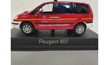 Peugeot 807 Sapiers Pompiers, масштабная модель, Norev, scale43