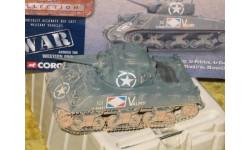 ШЕРМАН 1/50 M4A2 Sherman , French Army CC51005 diecast модель танка, масштабные модели бронетехники, 1:50, Corgi