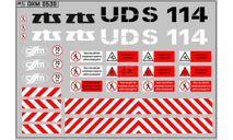 Набор декалей Экскаватор-планировщик UDS-114 (100х70), фототравление, декали, краски, материалы, MAKSIPROF, scale43