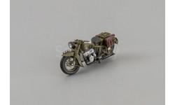 Мотоцикл ММЗ М-72 1946 г., хаки, масштабная модель мотоцикла, 1:43, 1/43, DiP Models