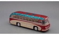 ЛАЗ 695 пригородный Опытный (1956), красно-бежевый
