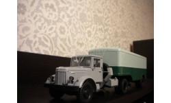 МАЗ-200В с полуприцепом МАЗ-5217, масштабная модель, Автоистория (АИСТ), scale43
