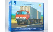 Сборная модель КАМАЗ-53212 контейнеровоз с прицепом ГКБ-8350, сборная модель автомобиля, AVD Models, scale43