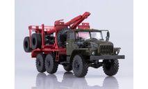 УРАЛ-43204-10 лесовоз с прицепом-роспуском, масштабная модель, Автоистория (АИСТ), scale43