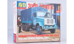 Сборная модель ЗИЛ-133Г4 бортовой (с тентом), сборная модель автомобиля, AVD Models, 1:43, 1/43