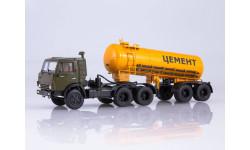 КАМАЗ-54112 с полуприцепом-цементовозом ТЦ-11, масштабная модель, 1:43, 1/43, Автоистория (АИСТ)