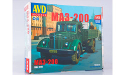 Сборная модель МАЗ-200 бортовой, сборная модель автомобиля, 1:43, 1/43, AVD Models