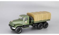 КРАЗ 214В Балластный тягач с тентом, хаки, масштабная модель, Наш Автопром, scale43