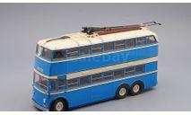 ЯТБ-3 Городской троллейбус (1938-1939), голубой с бежевым, масштабная модель, ULTRA Models, scale43